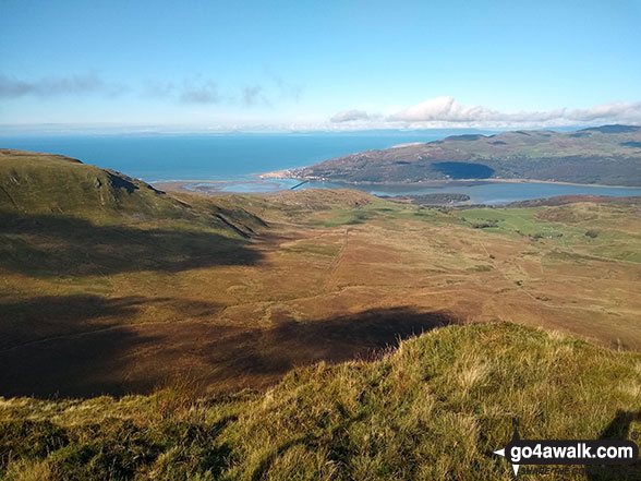 Barmouth and the Mawddach Estuary from the summit of Craig-y-llyn