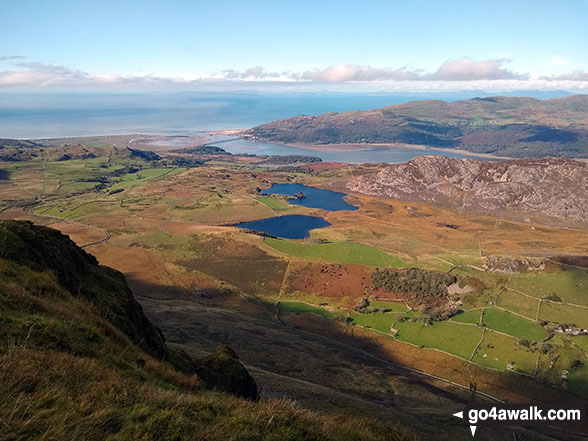Barmouth and the Mawddach Estuary from the summit of Tyrrau Mawr (Craig-las)