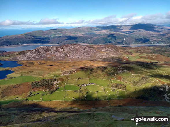 The Mawddach Estuary and the Y Garn (Rhinogs) massiff beyond from the summit of Tyrrau Mawr (Craig-las)