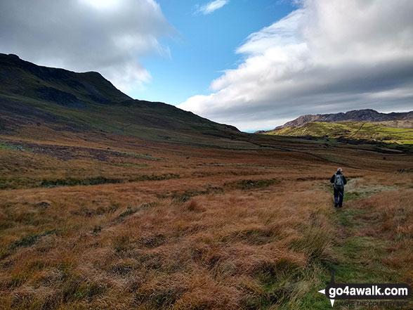 Tarrau Mawr (Craig-las) (left) from the Pony Path below Rhiw Gwerdydd