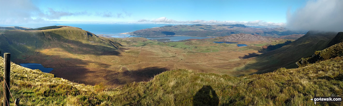 Barmouth and the Mawddach Estuary from the summit of Craig-y-llyn