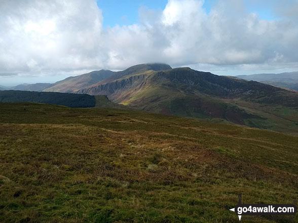 The Cadair Idris (Penygadair) massif from Mynydd Ceiswyn