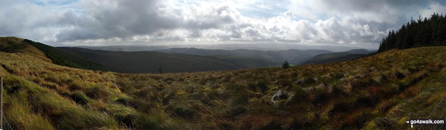 Looking south from Mynydd Ceiswyn