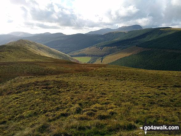 The Cwm Nant Ceiswyn from the Mynydd Dolgoed ridge