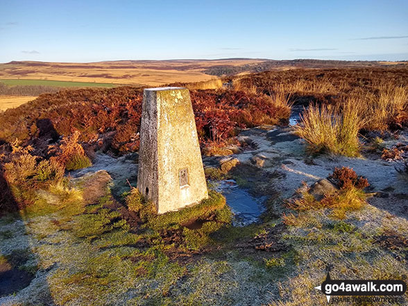 The trig point on Birchen Edge