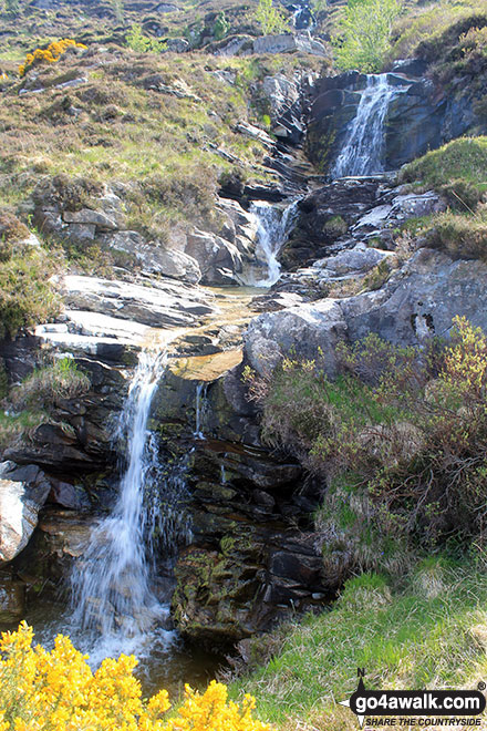 Waterfalls above Muiseal on the lower slopes of Ben Hope