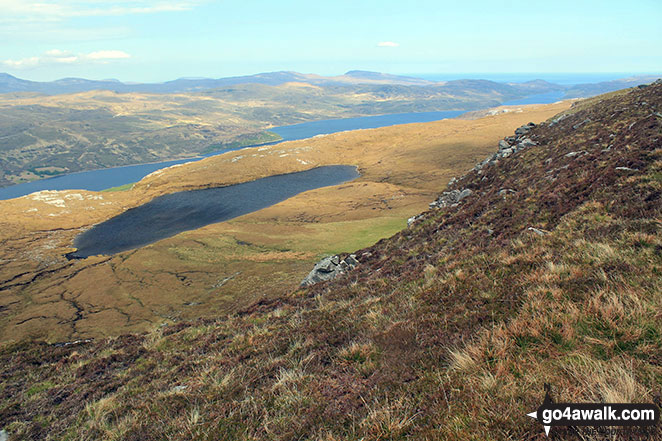 Loch Hope and the smaller Dubh-loch na Beinne from the lower slopes of Ben Hope