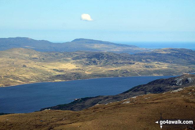 Beinn Ceannabeinne across Loch Hope from Carn a' Ghallaich, Ben Hope