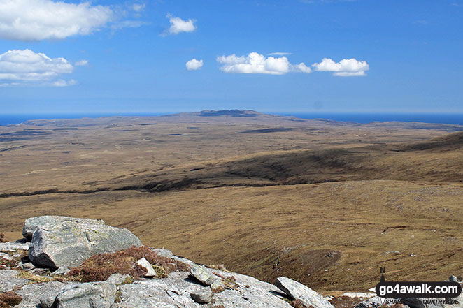 Ben Hutig from the upper slopes of Carn a' Ghallaich, Ben Hope