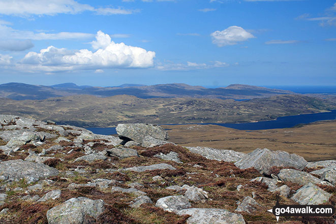Looking north east from the upper slopes of Carn a' Ghallaich, Ben Hope