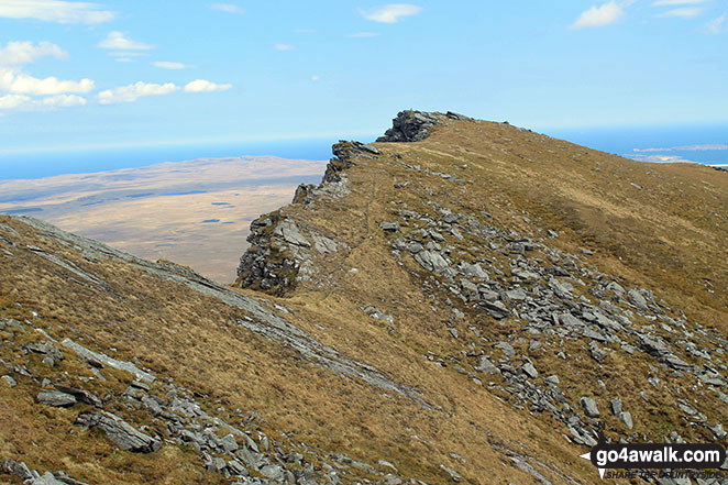 Walk h129 Ben Hope from Muiseal, Strath More - The north ridge of Ben Hope