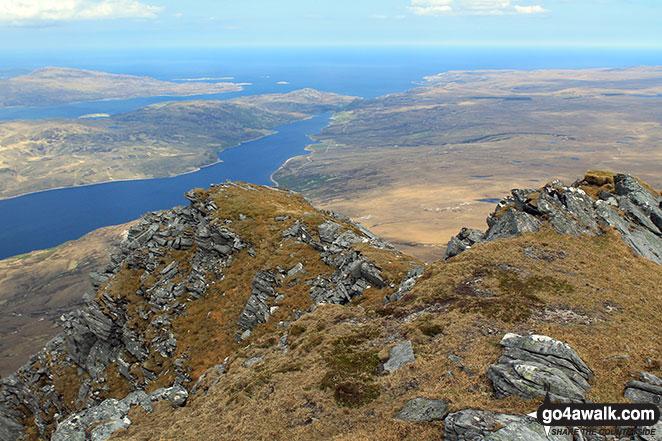 Loch Eriboll, Loch Hope & the Atlantic Ocean from the north ridge of Ben Hope