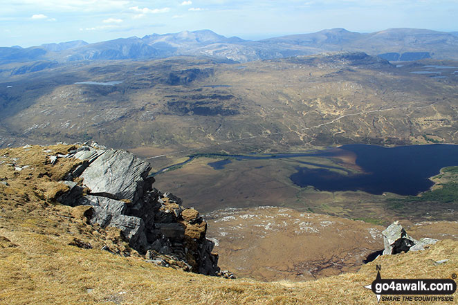 Walk h129 Ben Hope from Muiseal, Strath More - Loch Hope from Ben Hope