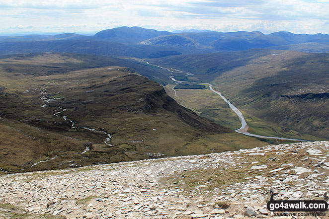 Strath More from part way up Ben Hope