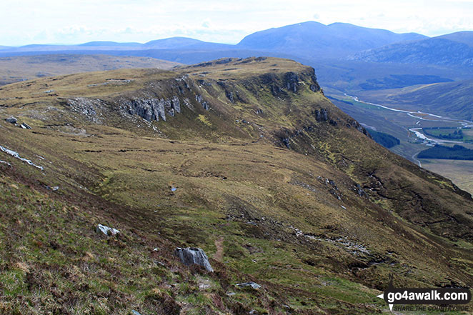 Creag Riabhach and Strath More from part way up Ben Hope