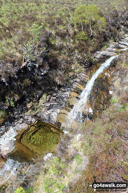 Walk h129 Ben Hope from Muiseal, Strath More - Waterfalls near LeitirMuiseal, Ben Hope