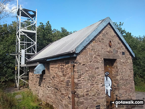 Building near the summit of Bardon Hill