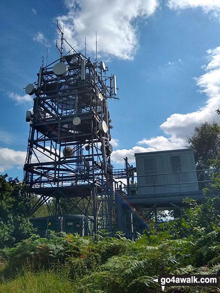 Telecommunications Mast near the summit of Bardon Hill