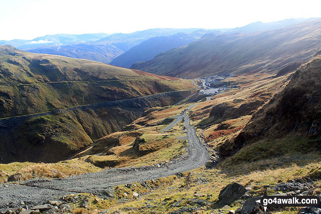 Honister Hause from Bell Crags