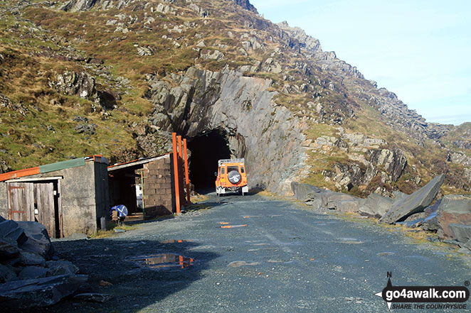 Walk c456 Fleetwith Pike, Hay Stacks, Brandreth and Grey Knotts from Honister Hause - Former mine entrance below Bell Crags