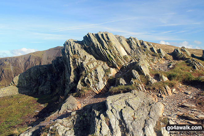 The rocky outcrop on the summit of Honister Crag (Black Star)