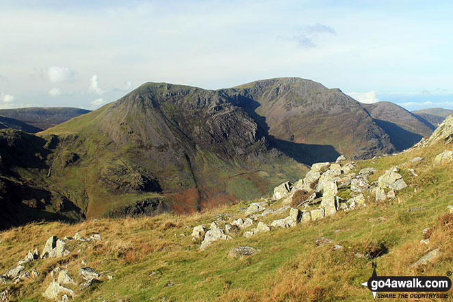 Scarth Gap (left), Seat (Buttermere), High Crag (Buttermere) and High Stile from Fleetwith Pike