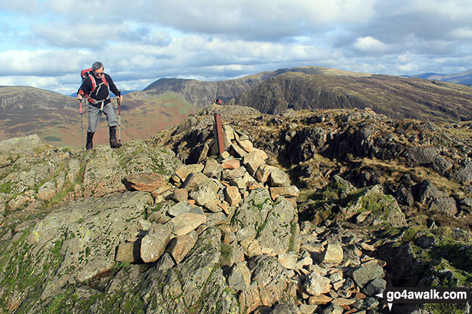 On Hay Stacks (Haystacks) summit