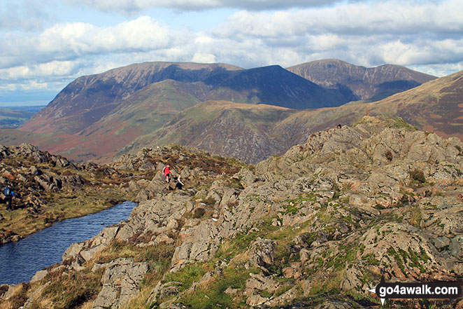 Grassmoor (left) and Grisedale Pike (right) from Hay Stacks (Haystacks)