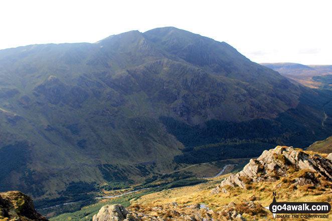 Looking Stead (Pillar) and Pillar itself towering above the upper reaches of Ennerdale from Hay Stacks (Haystacks)