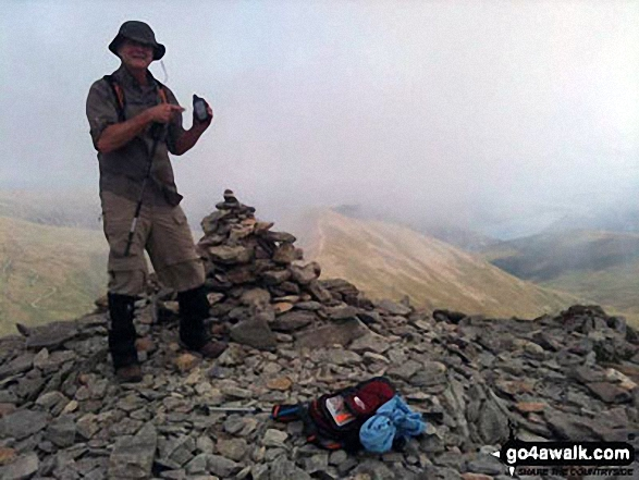 Darryl at the top of Helvellyn