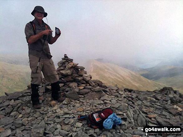 Darryl at the top of Helvellyn
