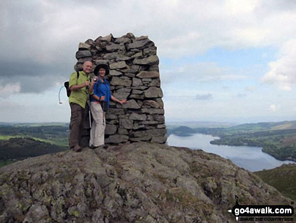 Me and Darryl Brooks at Hallin Fell summit with Ullswater beyond