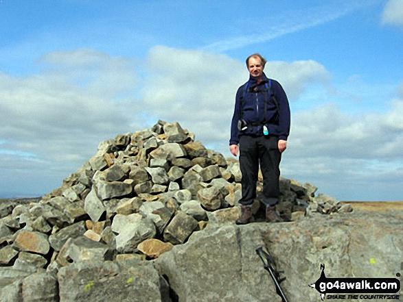 Me on Great Whernside summit