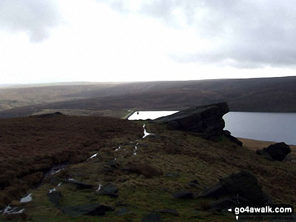 Gorple Reservoirs from Clough Head Stones