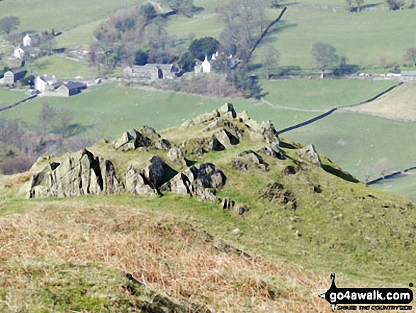 Backstone Barrow with Troutbeck beyond from the lower slopes of Sour Howes