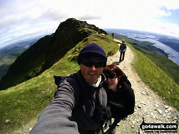 Me and my daughter on Ben Lomond last summer 2011 with more Clan behind - Welsh, English, Canadian and Italian/Canadian