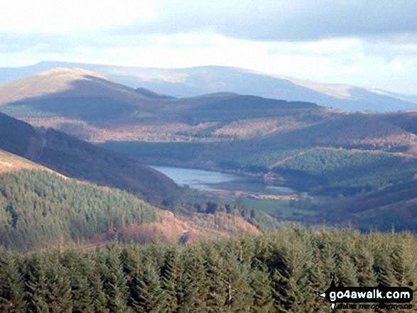 Talybont Reservoir from (near) the summit of Cefn Tarenni