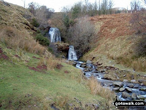 Waterfalls next to the Blaen y Glyn Car Park. Walk route map po131 Bwlch y Ddwyallt and Fan y Big from Blaen y Glyn photo