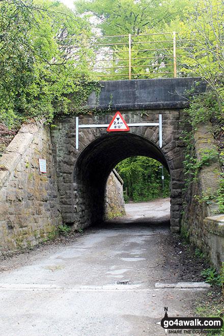 Footpath under the bridge at Strines Railway Station