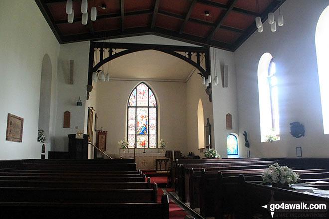 The interior of St. Thomas' Church, Mellor