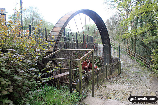 The water wheel at the Little Mill Inn, Rowarth