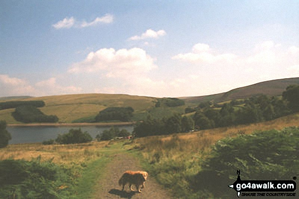 Errwood Reservoir. Walk route map d102 Burbage and Goyt's Moss from Errwood Reservoir photo