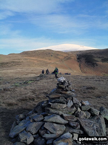 Walk Black Combe walking UK Mountains in The South Western Marches The Lake District National Park Cumbria    England