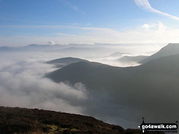 Stile End, Outerside and Causey Pike from Sleet How