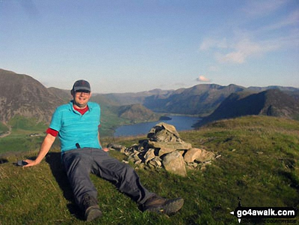 On Low Fell summit above Loweswater. Walk route map c275 Darling Fell, Low Fell and Fellbarrow from Loweswater photo
