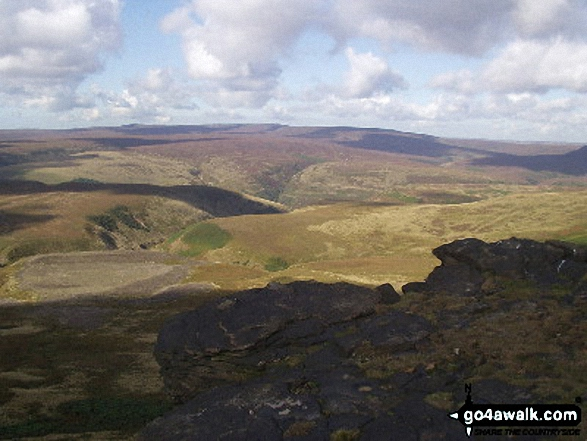 Wilfrey Edge towards Bleaklow Hill from Howden Edge