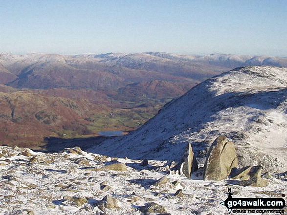 Walk c306 The Old Man of Coniston and Wetherlam from Coniston - Prison Band from Swirl How