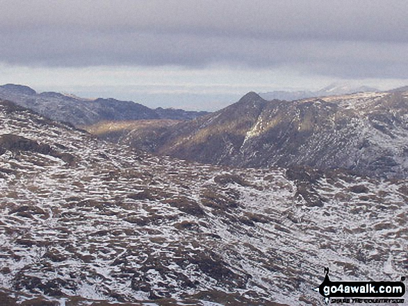 The Langdale Pikes from Wetherlam