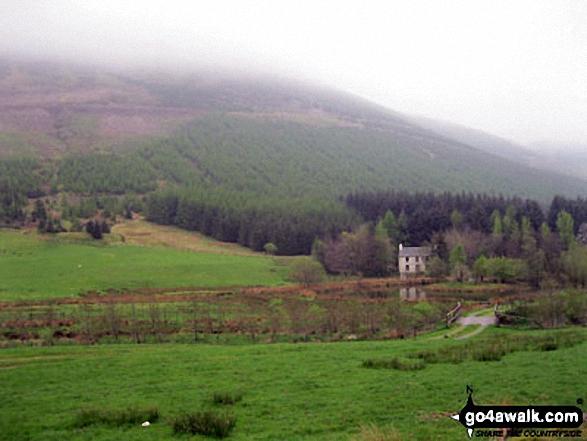 Y Ro Wen under a blanket of cloud above Gwyndy-newydd near Dolwyddelan