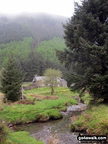 Ty'n-y-cwm in Cwm Penamnen from Pen y Bryn-melyn